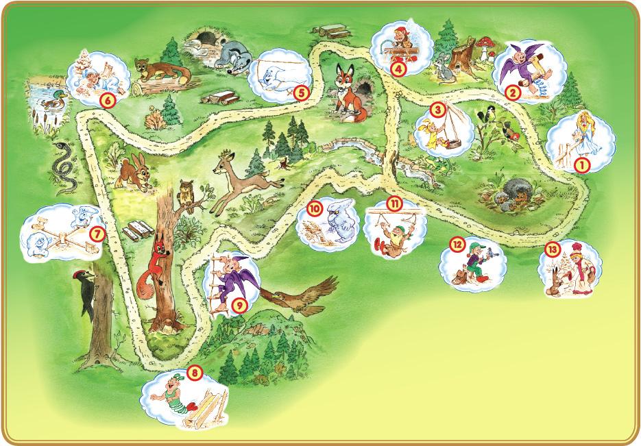 mapa ježíškova cesta