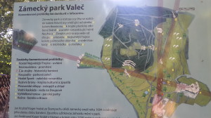 mapa zámeckého parku