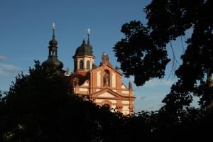 pohled na kostel Nejsvětější Trojice