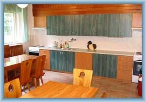 Chata Archa Pernink - společná kuchyň