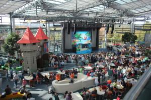Playmobil park - herna v hale a pódium